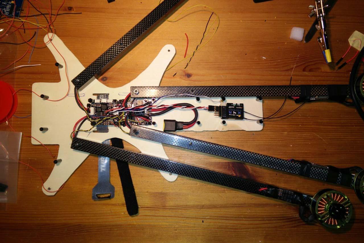 4 blade drone carbon fibres UAV
